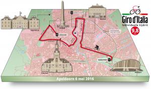 Fiets zelf de tijdrit van de Giro Italia in Apeldoorn.